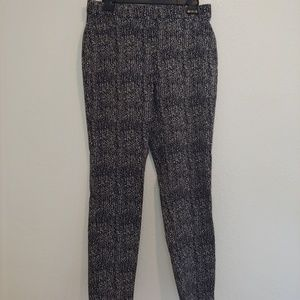 Black and white stretch trousers